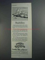 1927 Gargoyle Leather Oils and Greases Ad - Stability