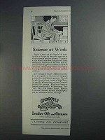 1927 Gargoyle Leather Oils and Greases Ad - Science