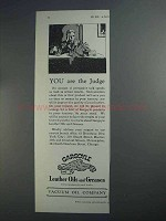 1927 Gargoyle Leather Oils and Greases Ad - The Judge