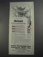 1927 Dollar Steamship American Mail Line Ad - Orient