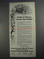 1927 American Mail Dollar Steamship Line Ad - Pacific