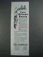 1927 Dollar Steamship American Mail Line Ad