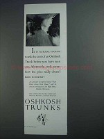 1927 Oshkosh Trunks Ad - It Is Natural to Ask The Cost