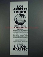 1927 Union Pacific Train Ad - Los Angeles Limited