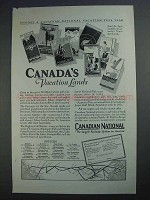1927 Canadian National Ad - Vacation Lands