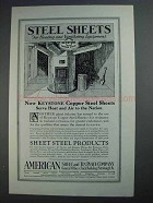 1927 American Sheet & Tin Plate Company Ad