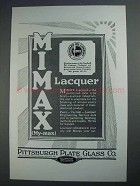 1927 Pittsburgh Plate Glass Mimax Lacquer Ad