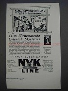 1927 NYK Line Ad - Penetrate the Oriental Mysteries
