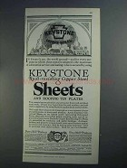 1926 American Sheet and Tin Plate Ad - Keystone Copper