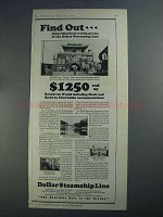1926 Dollar Steamship Line Ad - Find Out