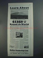 1926 Dollar Steamship Line Ad - Learn About
