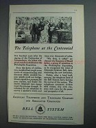 1926 Bell Telephone Ad - Telephone at the Centennial