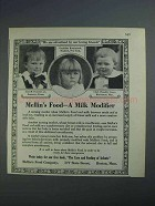 1926 Mellin's Food Ad - A Milk Modifier
