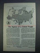 1915 AT&T Ad - The Agency of a United People