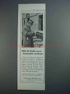 1915 Eastman Kodak Ad - Recod Autographic - Authentic