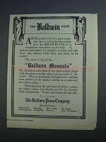 1915 Baldwin Manualo Piano Ad