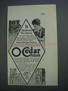1915 O-Cedar Polish Ad - It Brightens The Home