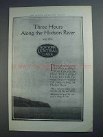 1913 New York Central Lines Ad - Along Hudson River