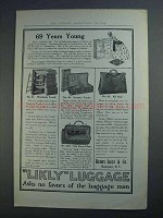 1913 Likly Luggage Ad - No. 61 Wardrobe Trunk +