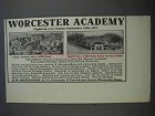 1913 Worcester Academy Ad - Campus, Gaskill Field