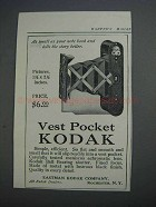 1913 Vest Pocket Kodak Camera Ad - Small as Note Book