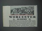 1913 Worcester Academy Ad - 80th Year