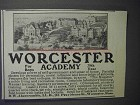 1912 Worcester Academy Ad - For Boys 79th Year