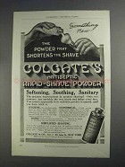 1912 Colgate Rapid-Shave Powder Ad - Shortens Shave