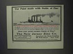 1912 New Jersey Zinc Co. Ad - Paint With Oxide of Zinc