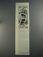 1925 Hawaii Tourist Bureau Ad - Huki This Winter
