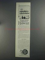 1925 Hawaii Tourist Bureau Ad - Dreamy Autumn Holidays
