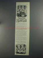 1925 Hawaii Tourist Bureau Ad - Summer Smiles