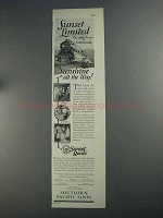 1925 Southern Pacific Lines Ad - Sunset Limited