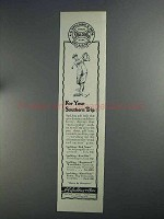 1925 Spalding Golf Balls & Clubs Ad - Southern Trip