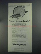 1925 Westinghouse Electric Ad - Letters From the People