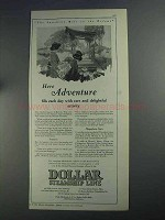 1925 Dollar Steamship Line Ad - Here Adventure