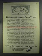 1925 The Pacific Northwest Ad - Western Gateway