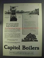 1925 Capitol Boilers Ad - Standard Equipment