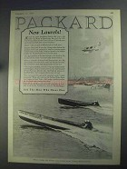1925 Packard Chriscraft II Boat Ad - New Laurels