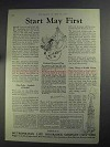 1925 Metropolitan Life Insurance Ad - Start May First