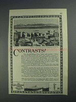1925 Seattle Washington Ad - Contrasts