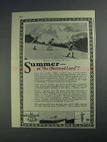 1925 Seattle Washington Ad - Summer in the Charmed Land