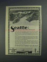 1925 Seattle Washington Ad - Metropolis of Northwest