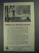 1925 Bell Telelphone Ad - Building for America's Growth