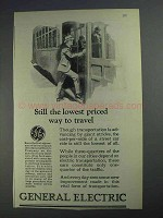 1925 General Electric Ad - Still Lowest Way to Travel
