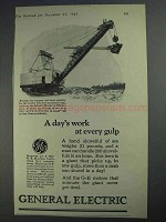1925 General Electric Ad - A Day's Work At Every Gulp