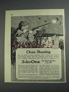 1925 3-in-One Oil Ad - Clean Shooting