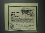 1925 Trust Company of Florida Ad - 8% on First Mortgage