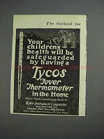 1925 Tycos Fever Thermometer Ad - Children's Health