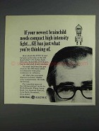 1968 General Electric DYS Quartzline Lamp Ad